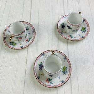 Vintage japan tea saucer set of 3
